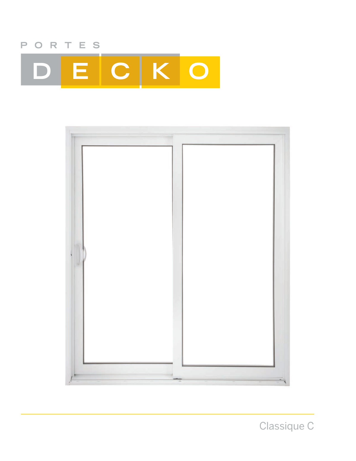 Porte patio Decko - Brochure Decko classique C