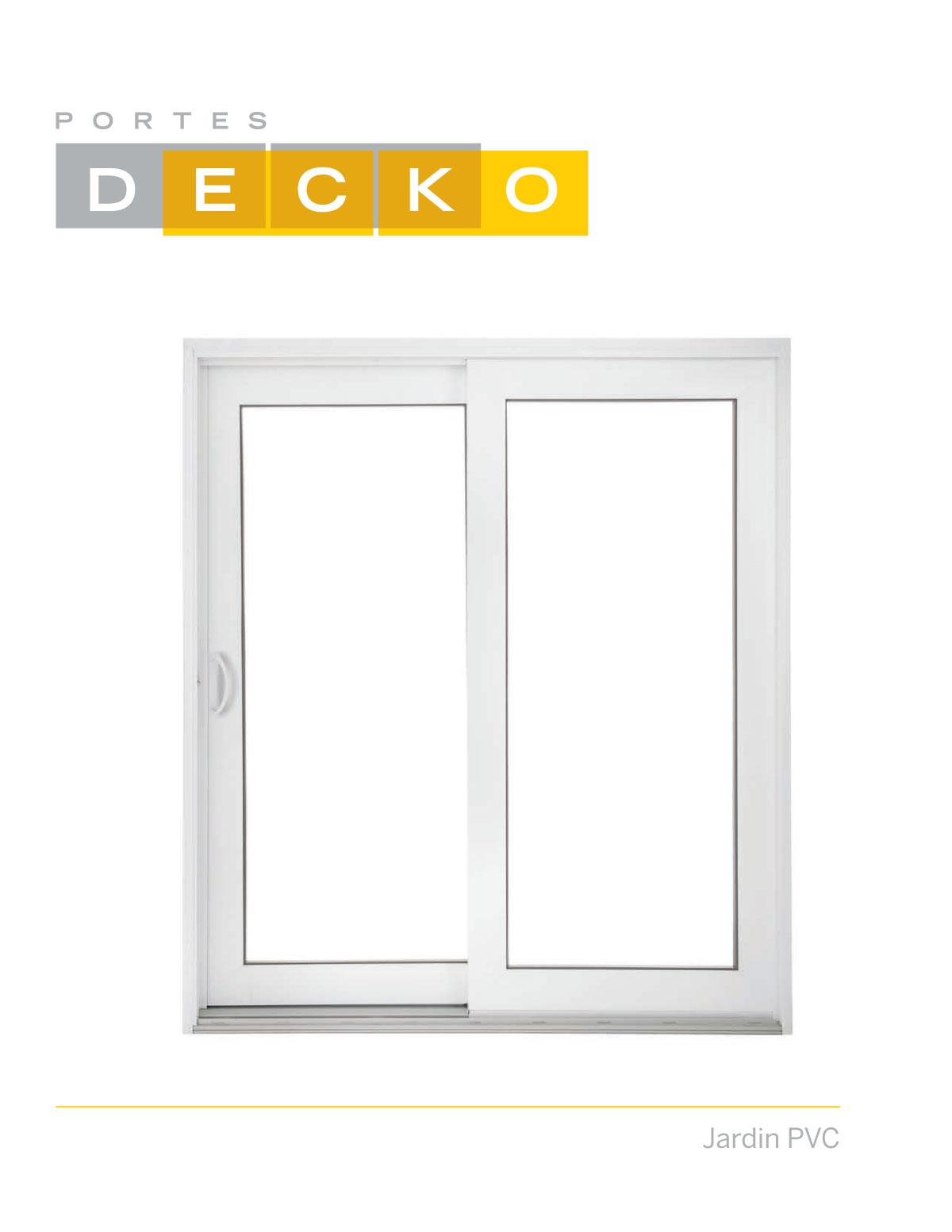 Porte patio Decko - Brochure Decko jardin PVC