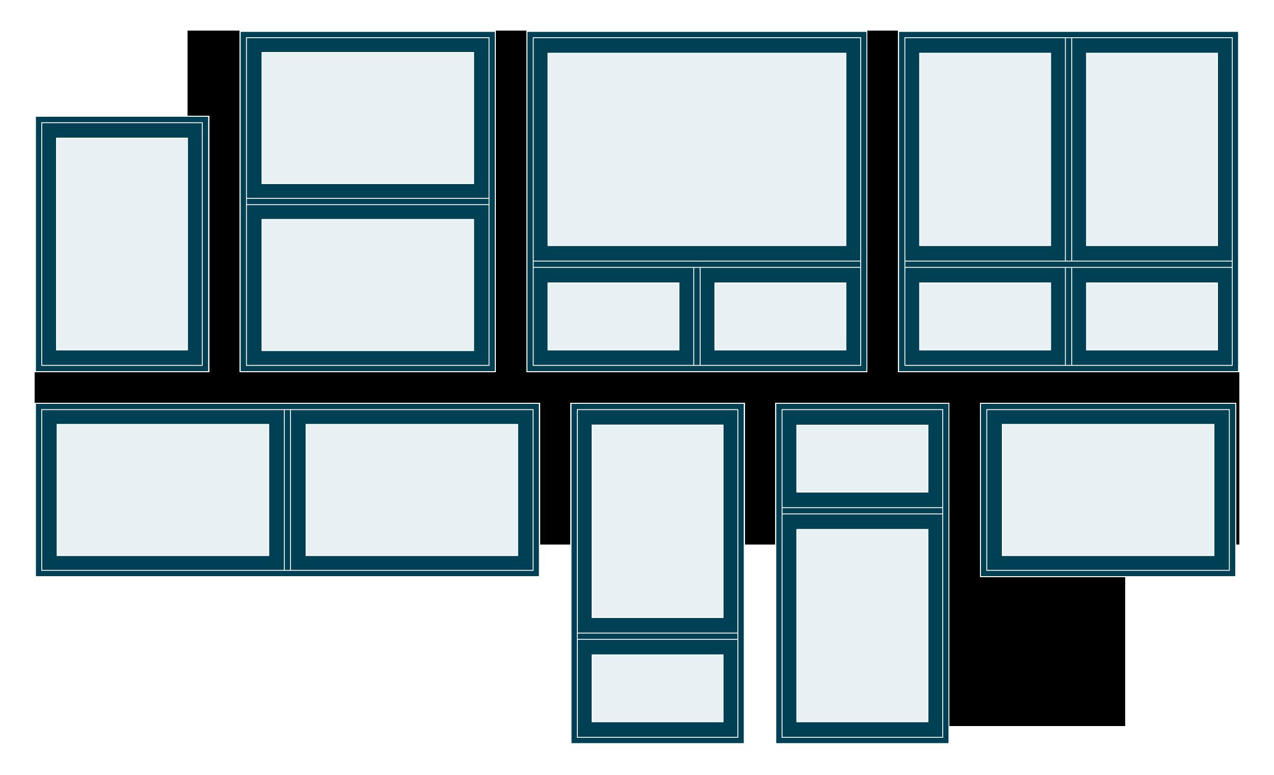 Configurations suggérées fenêtres à auvent