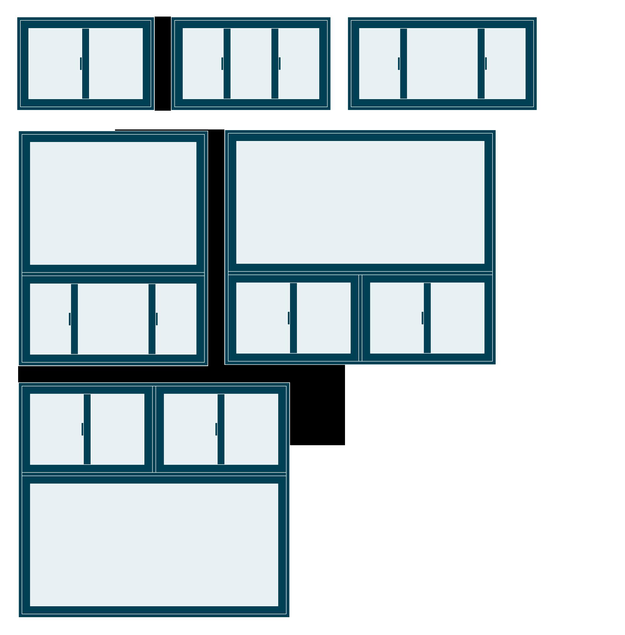 Configurations suggérées fenêtres coulissantes