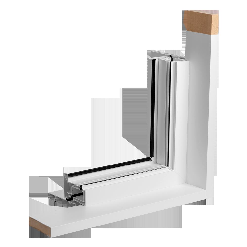 Finition intérieur bois recouvert PVC - Portes et Fenêtres Vallée